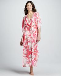 Letarte - Multicolor Hawaiian Valentine Maxi Cover-up - Lyst