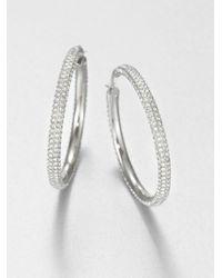 Michael Kors - Metallic Sparkle Hoop Earrings - Lyst