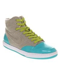 Nike Gray Fluorescent High Top Sneakers