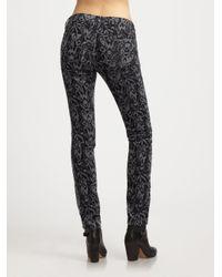 Rag & Bone Black Skinny Ikat Jeans