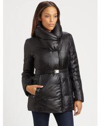 Rainforest Black Belted Pillow-collar Jacket