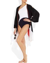 ROKSANDA White Digon Oneshoulder Swimsuit