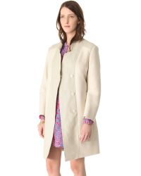 See By Chloé Natural Notched Collar Coat