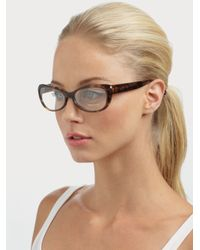 Tom Ford Brown Small Rectangular Plastic Eyeglasses