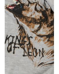 TOPSHOP Gray Kings Of Leon Tee By and Finally