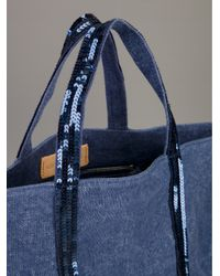 Vanessa Bruno Blue Sequin Tote Bag