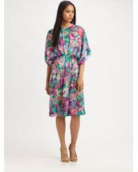 Zimmermann Multicolor Clique Dolman Dress
