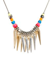 ASOS - Metallic Two Pack Chain Spike Necklaces - Lyst