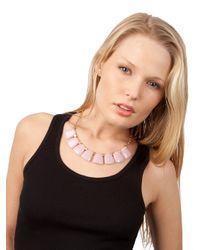 BaubleBar - Metallic Rose Drop Collar - Lyst