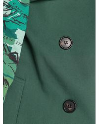 Boy by Band of Outsiders | Green Printed Sleeve Trench Coat | Lyst