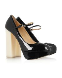 Charlotte Olympia Black Marple Patent Leather Maryjane Pumps