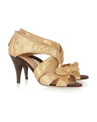 Charlotte Olympia Patricia Metallictwill Sandals