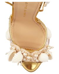 Charlotte Olympia Metallic She Sells Sea Shells Embellished Leather Pumps