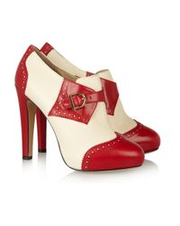 Charlotte Olympia Red Poirot Leather Boots