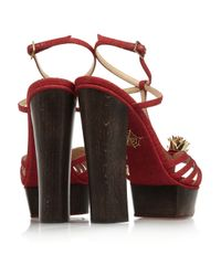 Charlotte Olympia Red Rio Woven Canvas Sandals