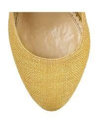 Charlotte Olympia - Yellow Bebel Textured Cotton Platform Pumps - Lyst