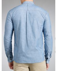 Fred Perry Fred Perry Bleached Chambray Shirt Sky Blue for men