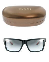 Gucci Red Square Frame Sunglasses