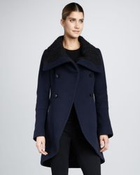 Mackage Black Cable Knit Coat