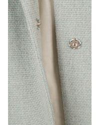 TOPSHOP Blue Textured Swing Coat