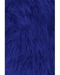 TOPSHOP Blue Fluffy Feather Cape