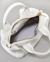 Alexander Wang White Rocco Studbottom Satchel Duffel Bag