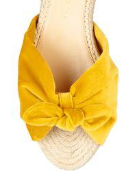 Charlotte Olympia Yellow Velvet Sandals