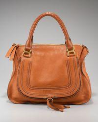 Chloé Brown Marcie Large Shoulder Bag