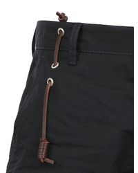 DSquared² Blue Leather String Cotton Canvas Trousers for men