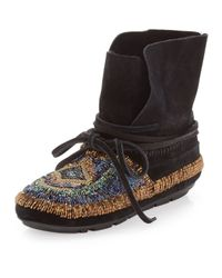 House of Harlow 1960 Black Madison Moccasin Boot
