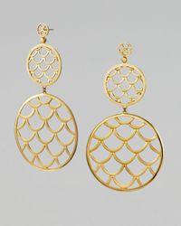 John Hardy - Metallic Gold Naga Drop Earrings - Lyst