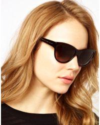 Marc By Marc Jacobs Brown Dark Havana Cat Eye Frame Sunglasses
