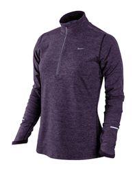 Nike Nike Element Thermal 12 Zip Running Top Purplesilver