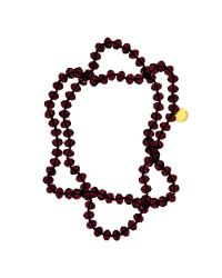 Ted Baker | Red Ted Baker Facet Bead Single Strand Necklace | Lyst
