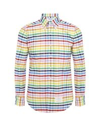 Thom Browne Multicolor Bold Rainbow Gingham Shirt for men