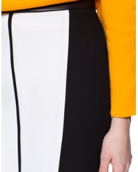 Zara | White Two Tone Combination Skirt | Lyst