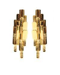 Aurelie Bidermann - Metallic Machu Picchu Clipon Earrings - Lyst