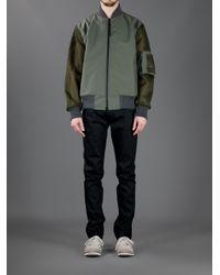 Christopher Raeburn Green Remade Mesh Bomber Jacket for men