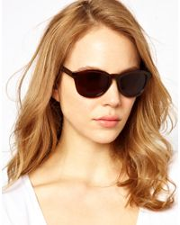 Marc By Marc Jacobs Brown Small Wayfarer Sunglasses