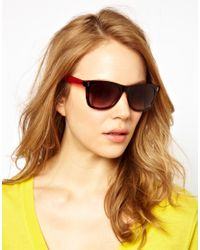 Marc By Marc Jacobs Red and Tortoise Shell Wayfarer Sunglasses