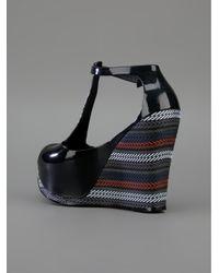 Melissa Black Print Wedge Sandal