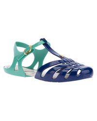 Melissa Blue Woven Rubber Sandal