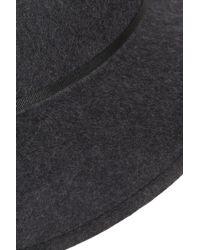 TOPSHOP Gray Marl Fedora Hat