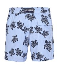 Vilebrequin Blue Moorea Turtle Print Swim Shorts for men