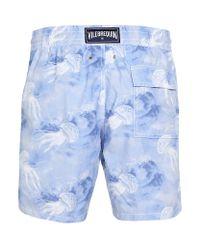 Vilebrequin Blue Moorea Jellyfish Print Swim Shorts for men
