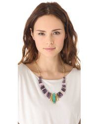 Gemma Redux - Multicolor Amethyst Quartz Bib Necklace - Lyst