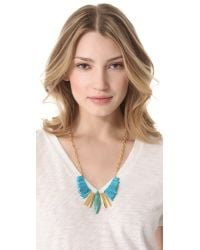 Gemma Redux Metallic Turquoise Refined Bib Necklace