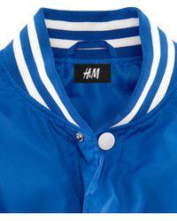 H&M Blue Baseball Jacket for men
