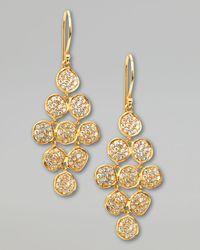 Ippolita - Metallic Stardust Flower Cascade Diamond Earrings - Lyst