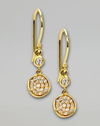 Ippolita - Metallic Stardust Flower Small Diamond Drop Earrings - Lyst